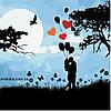 Картины по номерам 40*40 см БЕЗ КОРОБКИ Ночное свидание Artstory