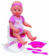 Кукла-пупс Симба Уборная, 38 см, со звуковым эффектом, New Born Baby (503 2483)