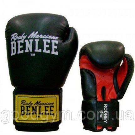 Боксёрские перчатки BENLEE Rodney 10 ун. (194007/1503) Черный/Красный, фото 2