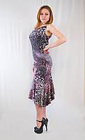 Откровенное оригинальное леопардовое вечернее платье.