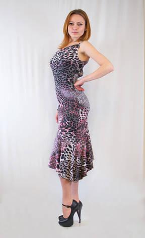 Откровенное оригинальное леопардовое вечернее платье., фото 2