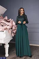 Женское вечернее платье с гипюром