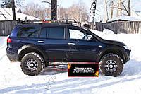 Молдинги на двери Mitsubishi Pajero Sport 2008-2013 г.в., фото 1