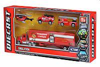 Same Toy Набор машинок Diecast Грузовик с пожарными, фото 1