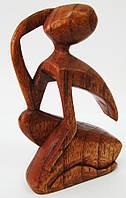 """Фигура деревянная """"мечтатель"""" (yg 04) (15 см) (индонезия)"""