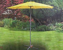 Зонт для отдыха в тени, защитит от солнечного света и дождя, прочная ткань, диаметр стойки 3 см, высота 2,3м