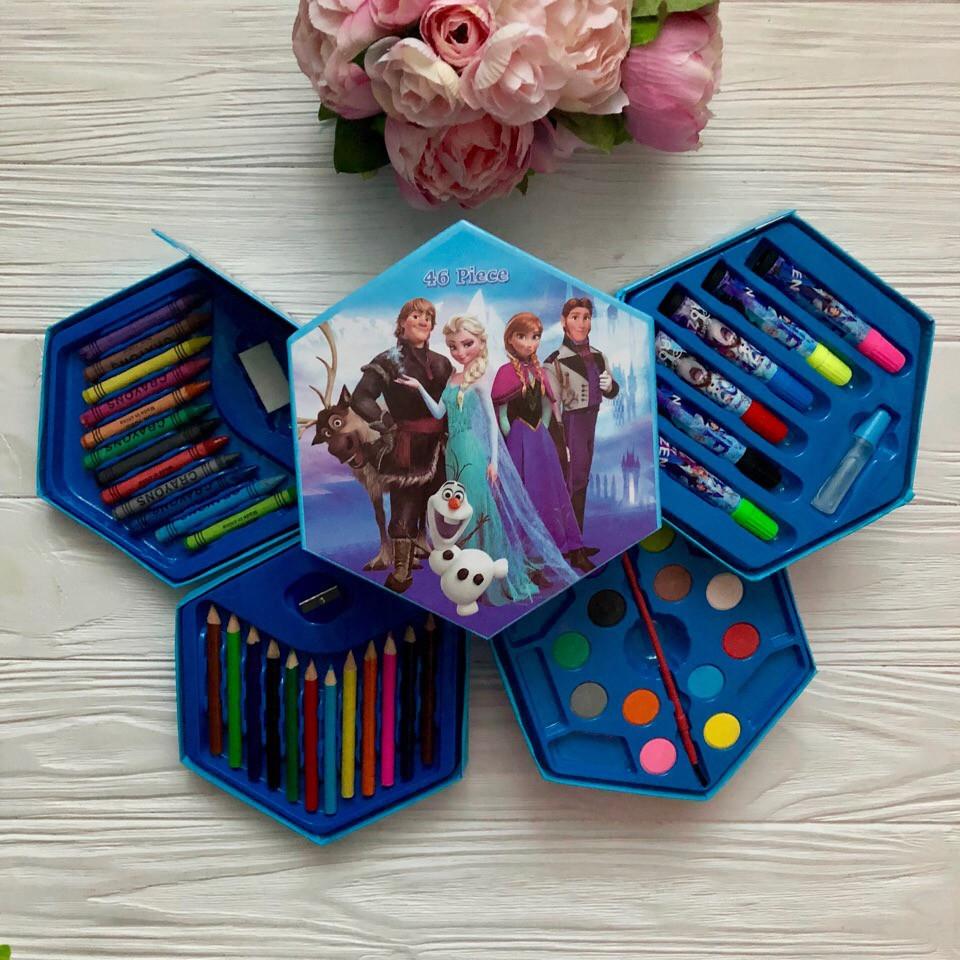 Набор для детского творчества  (46 предметов) шестигранный