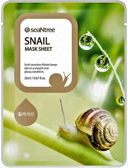 Тканевая маска с экстрактом муцина улитки SeaNtree SNT SNAIL MASK SHEET 20мл