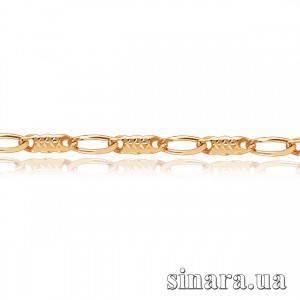 Золотая цепочка Пластины с алмазной насечкой 1089