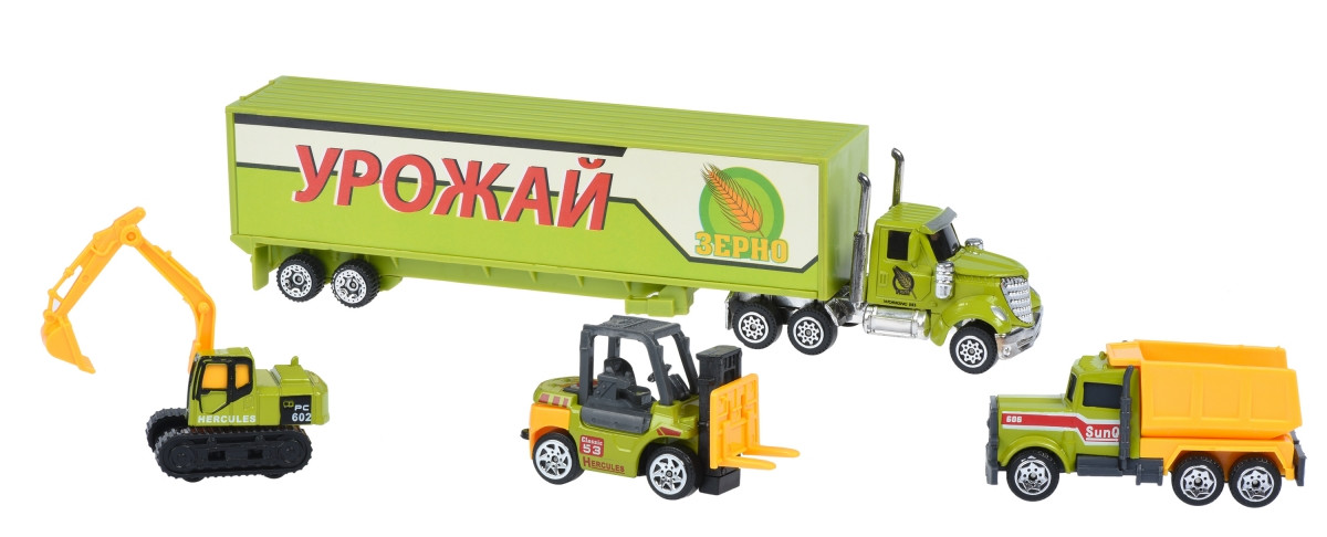 Same Toy Набор машинок Diecast Грузовик с тракторами