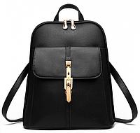 Рюкзак Чёрный Кожзам ( Городской Рюкзак ) — в Категории