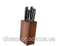 Набір ножів BergHOFF Redwood з колодою, дерев'яні ручки, 7пр
