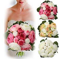13heads искусственные шелковые цветы жасмина невесты букета венчание украшения дома 1TopShop