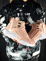 Женские кроссовки ACRONYM x Nike Air Huarache Pink, ТОП Реплика,с мехом 1:1 с оригиналом, розовые