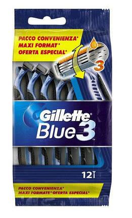 Одноразові станки для гоління Gillette Blue 3 Smooth (12шт.), фото 2