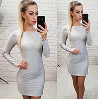 Платье люрекс, арт 141, серебро, фото 1