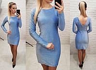 Платье из люрекса, арт 141, голубой, фото 1
