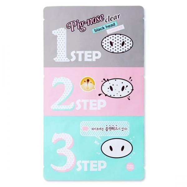 Трехступенчатый набор стикеров для очистки носа от черных точек Holika Holika Pig Nose Clear Black Head 3-Step