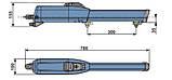 Привод FAAC 411 KIT для распашных ворот, фото 4