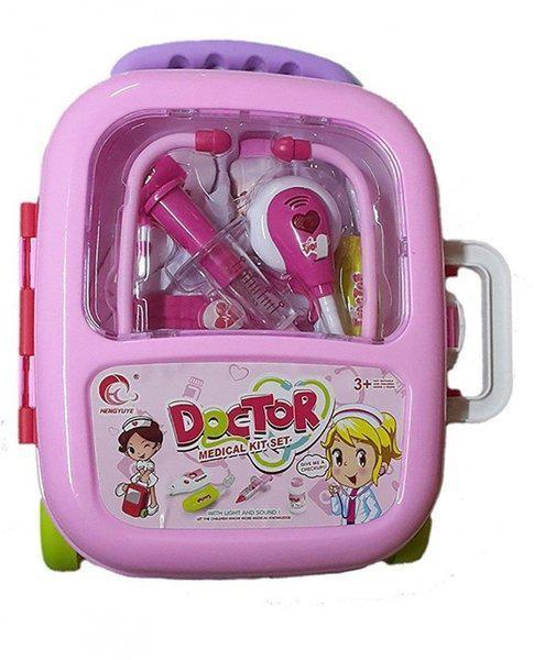 Игровой набор Same Toy Доктор в чемодане розовый 7774BUt