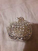 Флешка ювелирная яблоко металл 8 Гб, фото 1