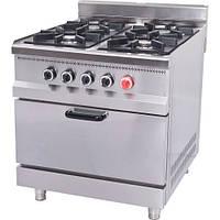 Плита газовая 4-х конфорочная с духовкой и газовым контролем МО15-4 Pimak