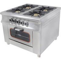 Плита газовая 4-х конфорочная с духовкой и газовым контролем МО15-4(40х40) Pimak