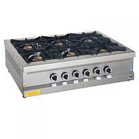 Плита газовая 6-ти конфорочная с газовым контролем МО15-6N Pimak