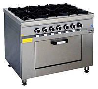 Плита газовая 6-ти конфорочная с духовкой и газовым контролем МО15-6 Pimak