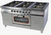 Плита газовая 6-ти конфорочная с духовкой и газовым контролем МО15-6(40х40) Pimak
