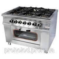 Плита газовая 6-ти конфорочная с духовкой МО15-6 Pimak