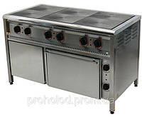 Плита электрическая 6-ти конфорочная  ПЕ-6Ш Н с духовкой.