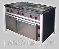 Плита электрическая промышленная 6-ти конфорочная  ПЕ-6Ш Ч с духовкой.