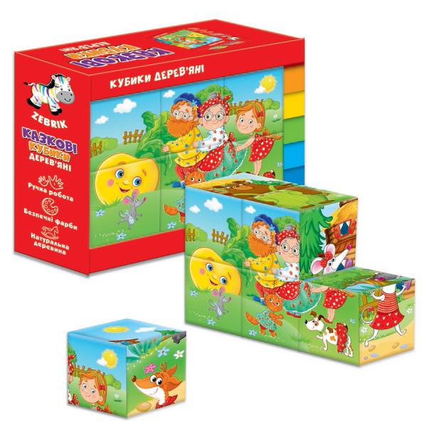 Деревянные кубики Vladi Toys Репка Теремок (Укр) (ZB1002-02)