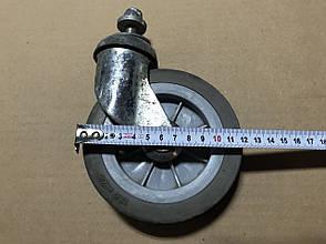 Промышленные колеса б/у для складских и торговых тележек, покупательских корзин 125мм, фото 3
