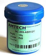 Флюс Amtech NC-559-ASM (100 грам) безсмывочный, для пайки SMD,BGA