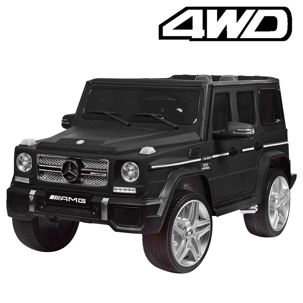 Детский электромобиль M 3567 EBLRM-2 4WD(Mercedes G65 VIP): 8 км/ч, EVA, кожа - BLACK MAT - купить оптом