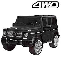 Детский электромобиль M 3567 EBLRM-2 4WD(Mercedes G65 VIP): 8 км/ч, EVA, кожа - BLACK MAT - купить оптом , фото 1
