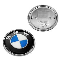 Значок на капот для BMW 82 мм значек бмв E39 E53 E60 E46 E36 E34 E90 E65 E66 E70 эмблема на перед