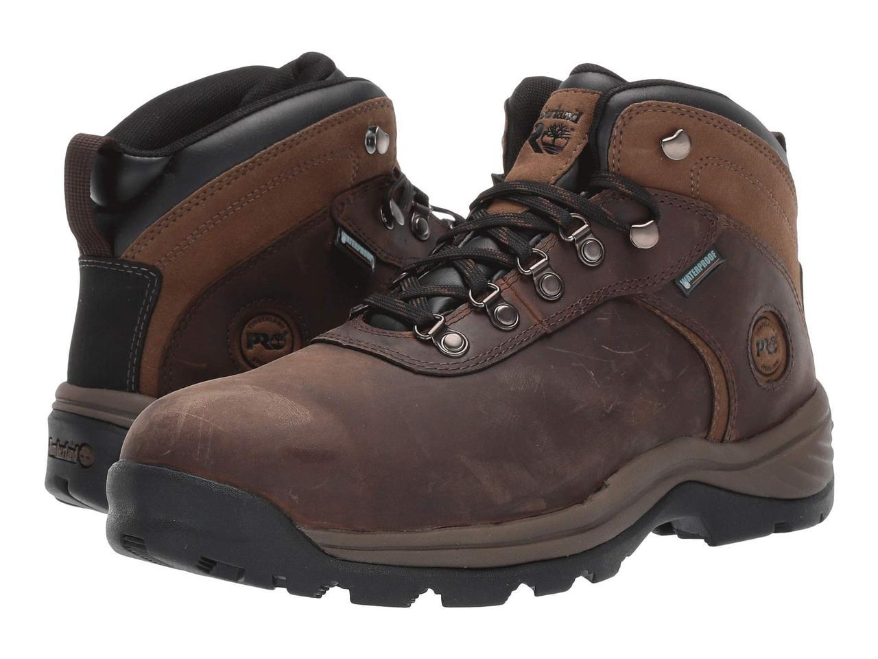 Ботинки/Сапоги (Оригинал) Timberland PRO Flume Mid Work Steel Safety Toe Waterproof Brown Nubuck Leather