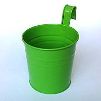 Ведро декоративное навесное (зеленое)