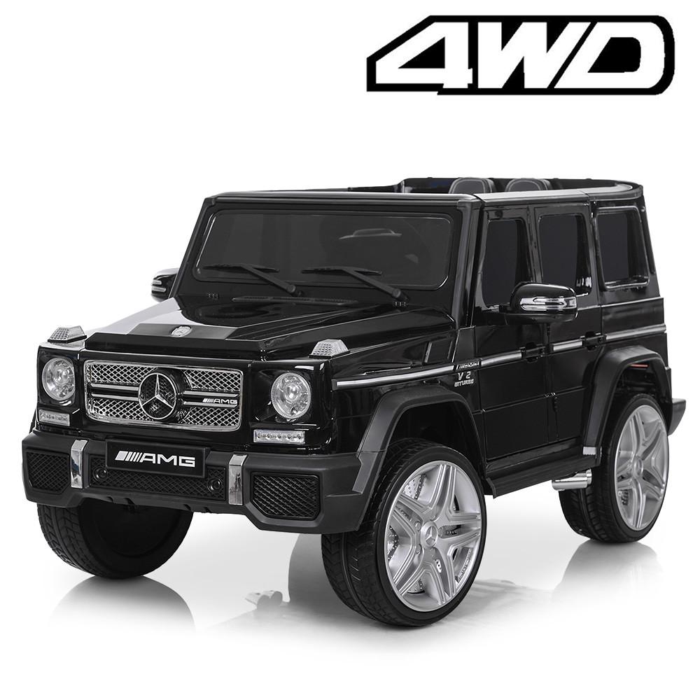 Детский электромобиль M 3567 EBLRS-2  4WD (Mercedes G65 VIP):, 8 км/ч, EVA, кожа - BLACK PAINT - купить оптом