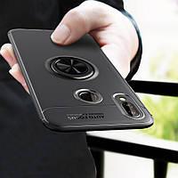 Чехол TPU Ring для Huawei P Smart Plus / Nova 3i / INE-LX1 бампер оригинальный Black  с кольцом