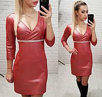 Замшевое платье,арт. 145 цвет алый, фото 1