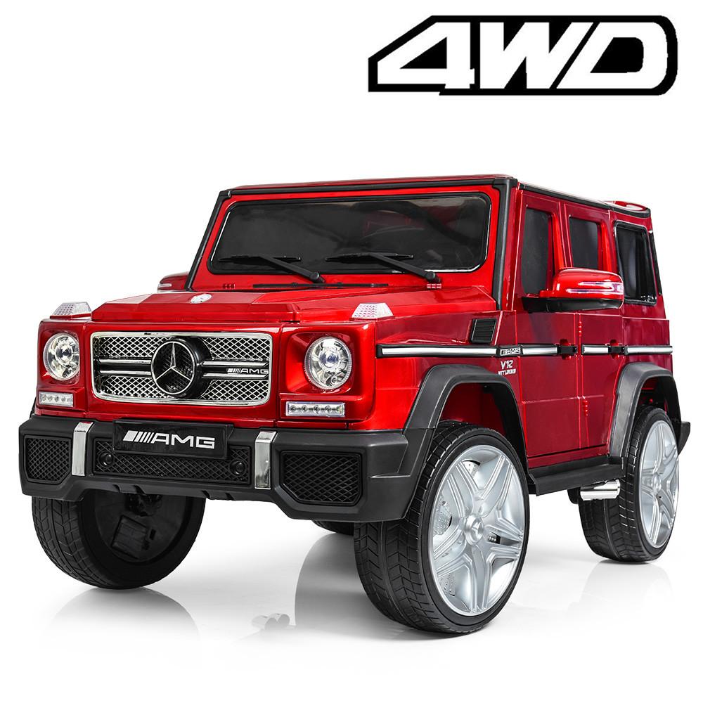 Детский электромобиль M 3567 EBLRS-3 4WD (Mercedes G65 VIP): 8 км/ч, EVA, кожа - RED - купить оптом