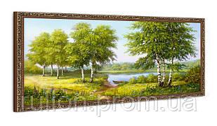 """Картина YS-Art FA003B """"Берёзы и лодка"""" 50x100"""