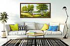 """Картина YS-Art FA003B """"Берёзы и лодка"""" 50x100 , фото 3"""