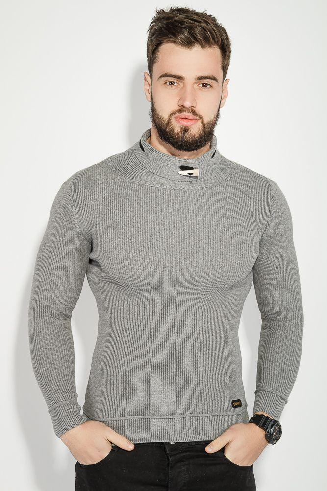 f41aa5f0382 Свитер мужской с невысоким горлом (серый) - Магазин с Кэшбэком 😘  apolloShop.com