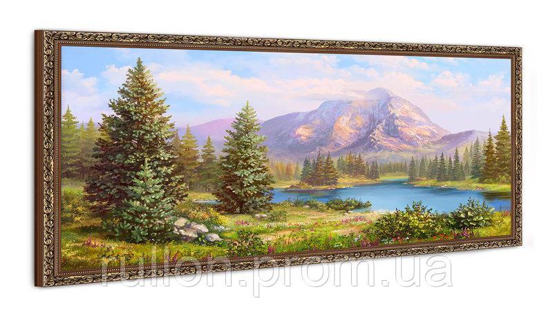 "Картина YS-Art FA005B ""Хвойный лес и горы"" 50x100"