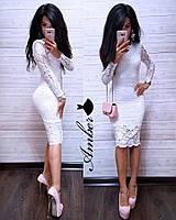 Женское гипюровое платье (42, 44, 46, бордо , изумруд , черный ,белый,электрик), фото 1